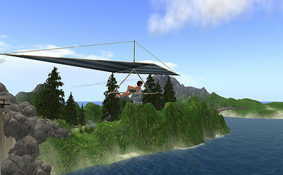 Hang Gliding above Dive World - DE*